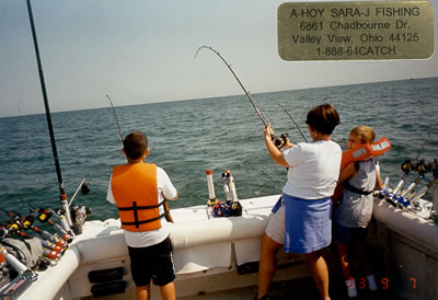 Photo gallery lake erie charter boats port clinton for Lake erie fishing charters port clinton
